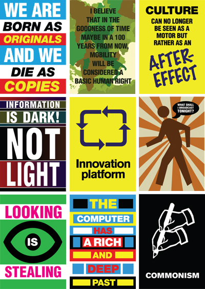 Designed slogans from publications